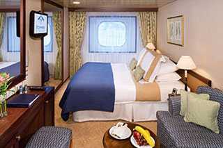 Oceanview cabin on Azamara Quest