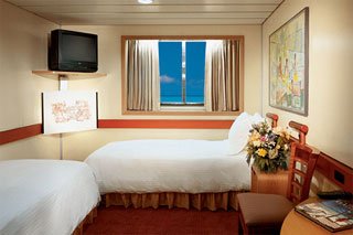 Oceanview cabin on Carnival Elation