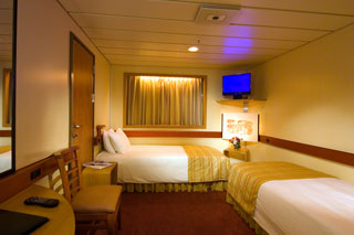 Interior Stateroom on Carnival Fantasy