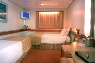 Inside cabin on Carnival Fascination