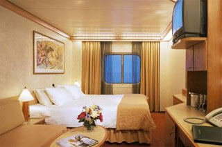 Oceanview cabin on Carnival Legend