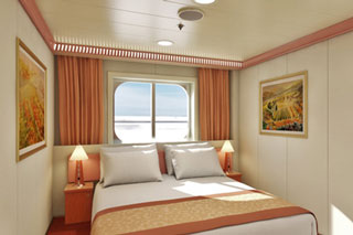 Interior Stateroom w/ Picture Window (Obstructed) on Carnival Glory