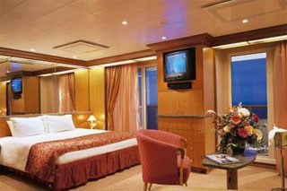 Suite cabin on Carnival Miracle