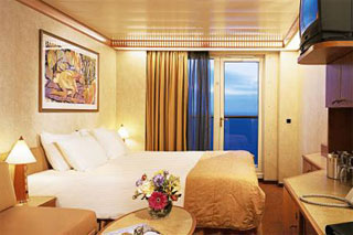 Aft-View Extended Balcony Stateroom on Carnival Miracle