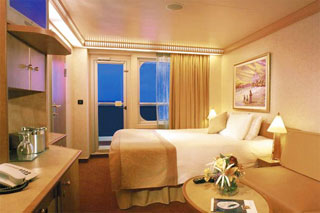 Aft-View Extended Balcony Stateroom on Carnival Valor