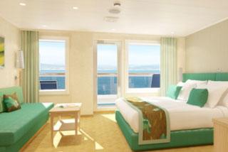 Suite cabin on Carnival Breeze