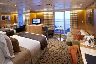 Suite cabin on Celebrity Constellation