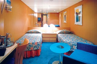 Inside cabin on Celebrity Infinity