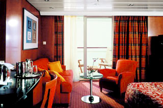 Suite cabin on Celebrity Infinity