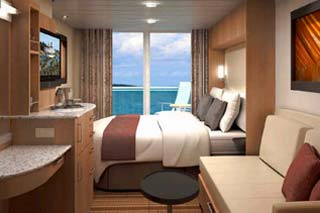 Balcony cabin on Celebrity Equinox