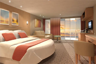 Suite cabin on Celebrity Equinox