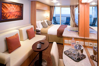 Balcony cabin on Celebrity Reflection