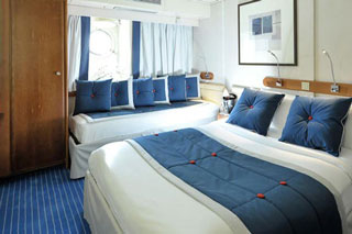 Oceanview cabin on Le Ponant