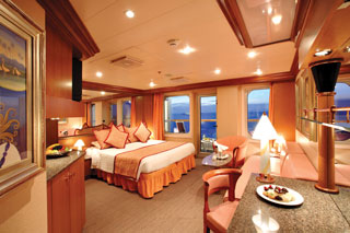 Suite cabin on Costa Fortuna