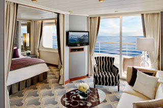 Suite cabin on Crystal Serenity