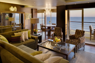 Suite cabin on Crystal Symphony