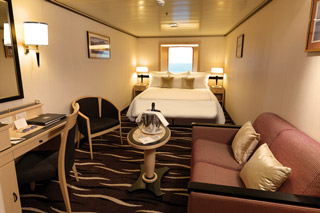 Oceanview cabin on Queen Mary 2