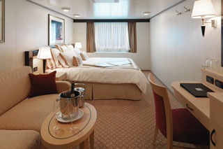 Oceanview cabin on Queen Elizabeth