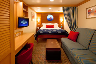 Inside cabin on Disney Fantasy