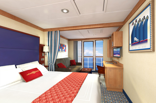 Concierge Family Oceanview Stateroom with Verandah on Disney Fantasy