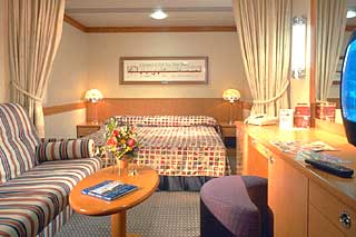 Inside cabin on Disney Magic
