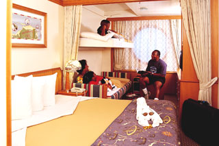 Oceanview cabin on Disney Magic