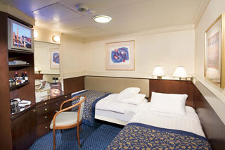 Inside cabin on Prinsendam