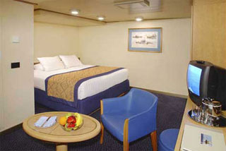 Inside cabin on Westerdam