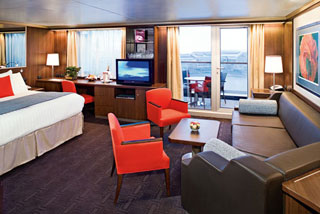 Suite cabin on Eurodam