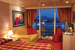 Suite cabin on MSC Opera