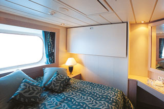 Oceanview cabin on MSC Opera