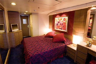 Inside cabin on MSC Musica