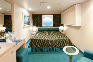 Oceanview cabin on MSC Poesia