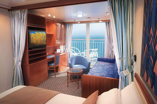 Aft-Facing Mini-Suite with Balcony on Norwegian Sun