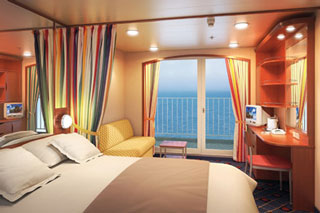 Mid-Ship Balcony Stateroom on Norwegian Sun