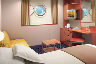 Mid-Ship Oceanview Porthole Window Stateroom on Norwegian Sun