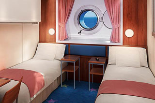 Mid-Ship Oceanview Porthole Window Stateroom on Norwegian Star
