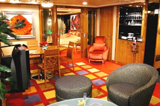 Owner's Suite with two Balconies on Norwegian Dawn