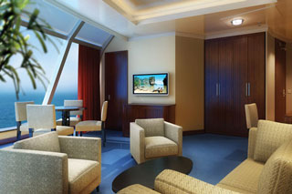 Deluxe Owner's Suite on Norwegian Dawn