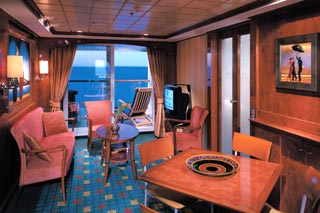 Family Suite with Balcony on Norwegian Dawn