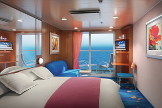 Aft-Facing Oceanview Stateroom with Balcony on Norwegian Dawn