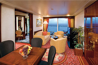 Penthouse with Large Balcony on Norwegian Spirit