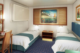 Inside cabin on Norwegian Spirit