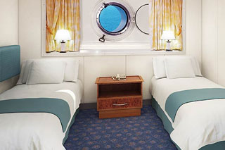 Mid-Ship Oceanview Porthole Window Stateroom on Norwegian Spirit