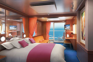 Mid-Ship Mini-Suite with Balcony on Norwegian Jewel