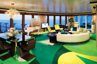 Suite cabin on Norwegian Gem