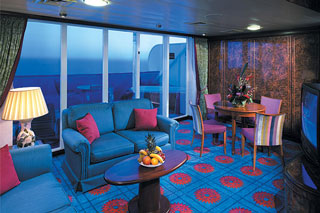 Owner's Suite with Large Balcony on Norwegian Sky