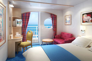 Mid-Ship Balcony Stateroom on Norwegian Sky