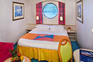 Mid-Ship Oceanview Porthole Window Stateroom on Norwegian Sky