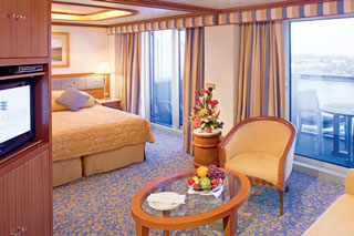 Suite cabin on Sun Princess